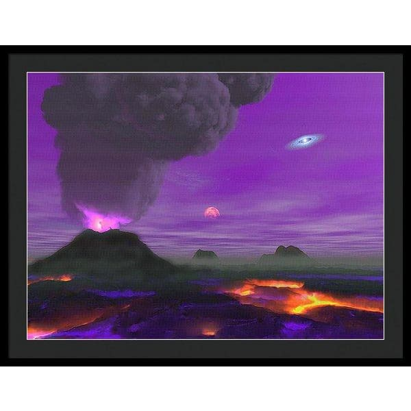 Young Planet - Framed Print - 36.000 x 27.000 / Black / Black - Framed Print
