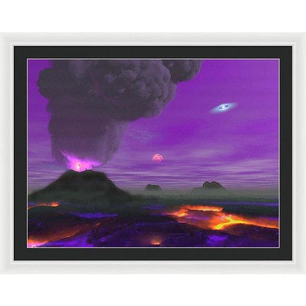 Young Planet - Framed Print - 36.000 x 27.000 / White / Black - Framed Print