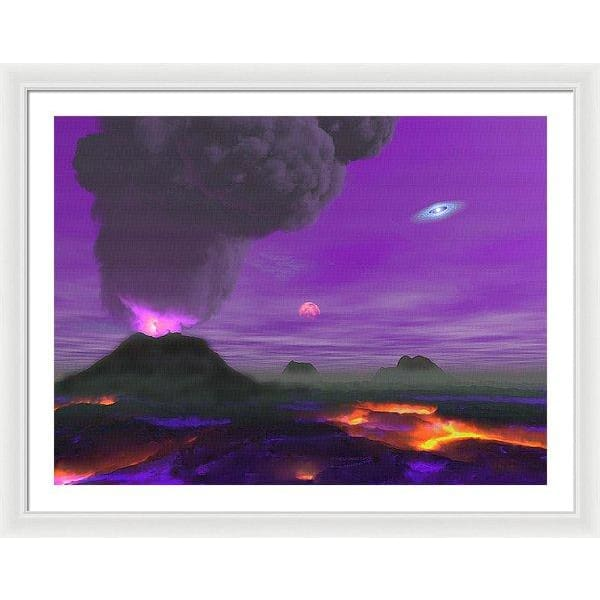 Young Planet - Framed Print - 36.000 x 27.000 / White / White - Framed Print