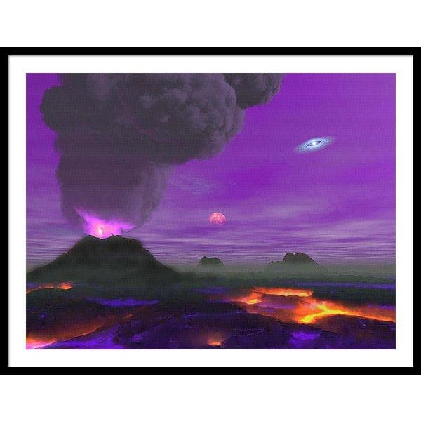 Young Planet - Framed Print - 40.000 x 30.000 / Black / White - Framed Print