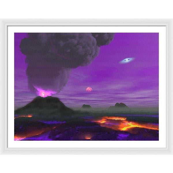 Young Planet - Framed Print - 40.000 x 30.000 / White / White - Framed Print
