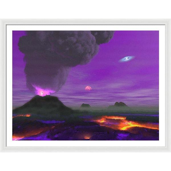 Young Planet - Framed Print - 48.000 x 36.000 / White / White - Framed Print
