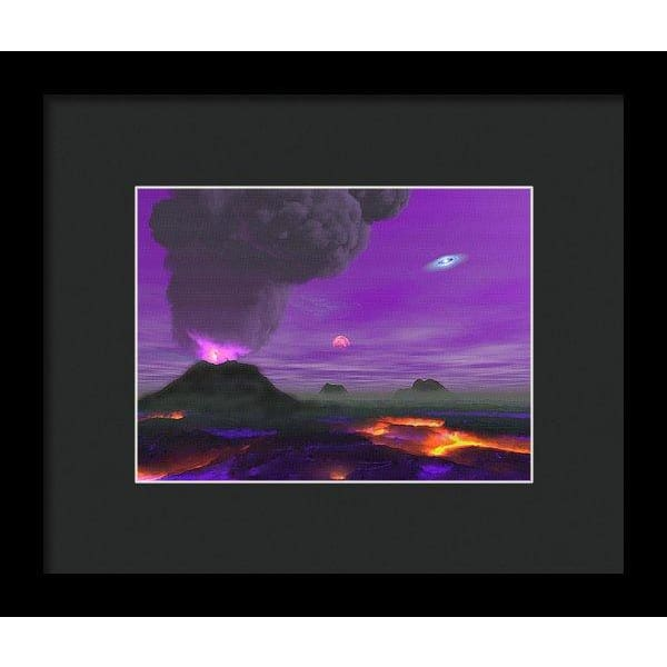 Young Planet - Framed Print - 8.000 x 6.000 / Black / Black - Framed Print