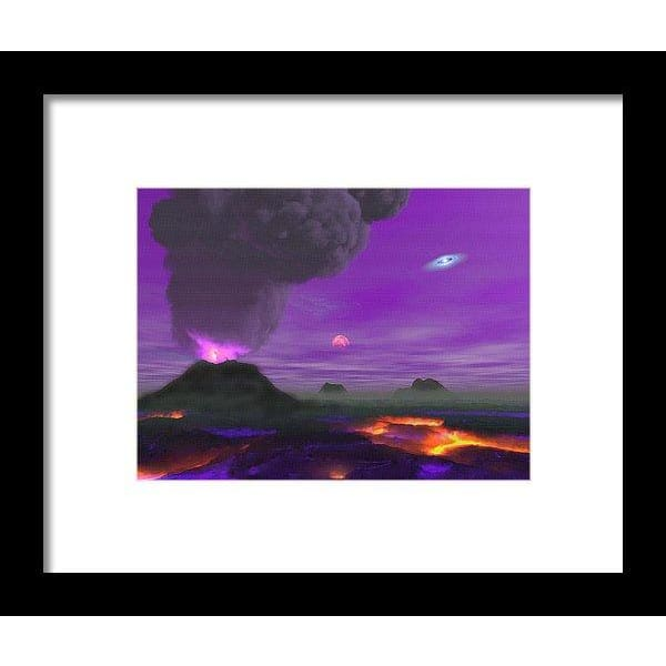 Young Planet - Framed Print - 8.000 x 6.000 / Black / White - Framed Print
