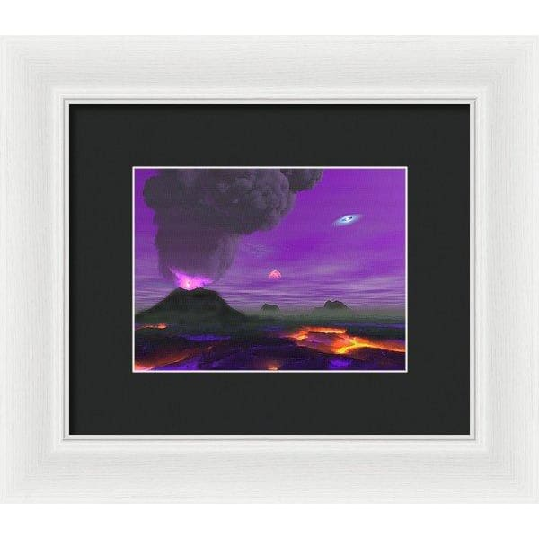 Young Planet - Framed Print - 8.000 x 6.000 / White / Black - Framed Print