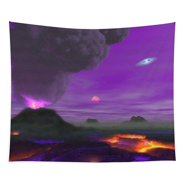 Young Planet - Tapestry - 88 x 104 - Tapestry