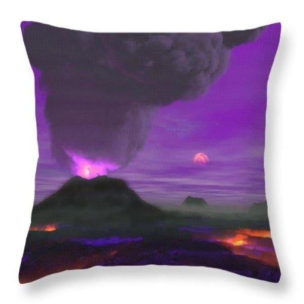 Young Planet - Throw Pillow - 18 x 18 / Yes - Throw Pillow