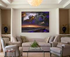 Cold Morning canvas print in living room
