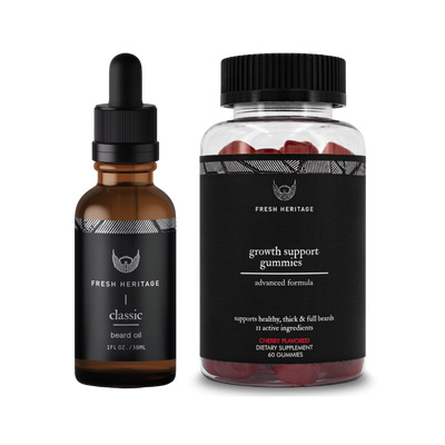 Beard Oil And Gummy Vitamins - Faster Results Bundle