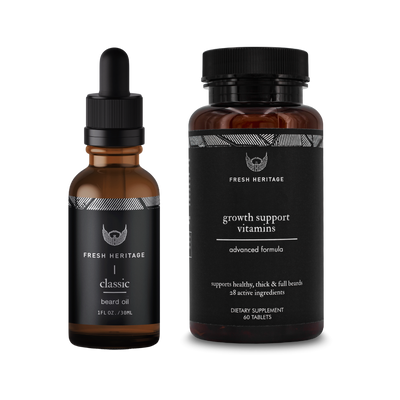 Beard Oil And Vitamins - Faster Results Bundle