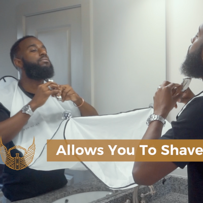 beard bib, beard catcher, shave, trim beard, black men beard