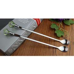 6 pc Crystal Drop Long Handled Spoons