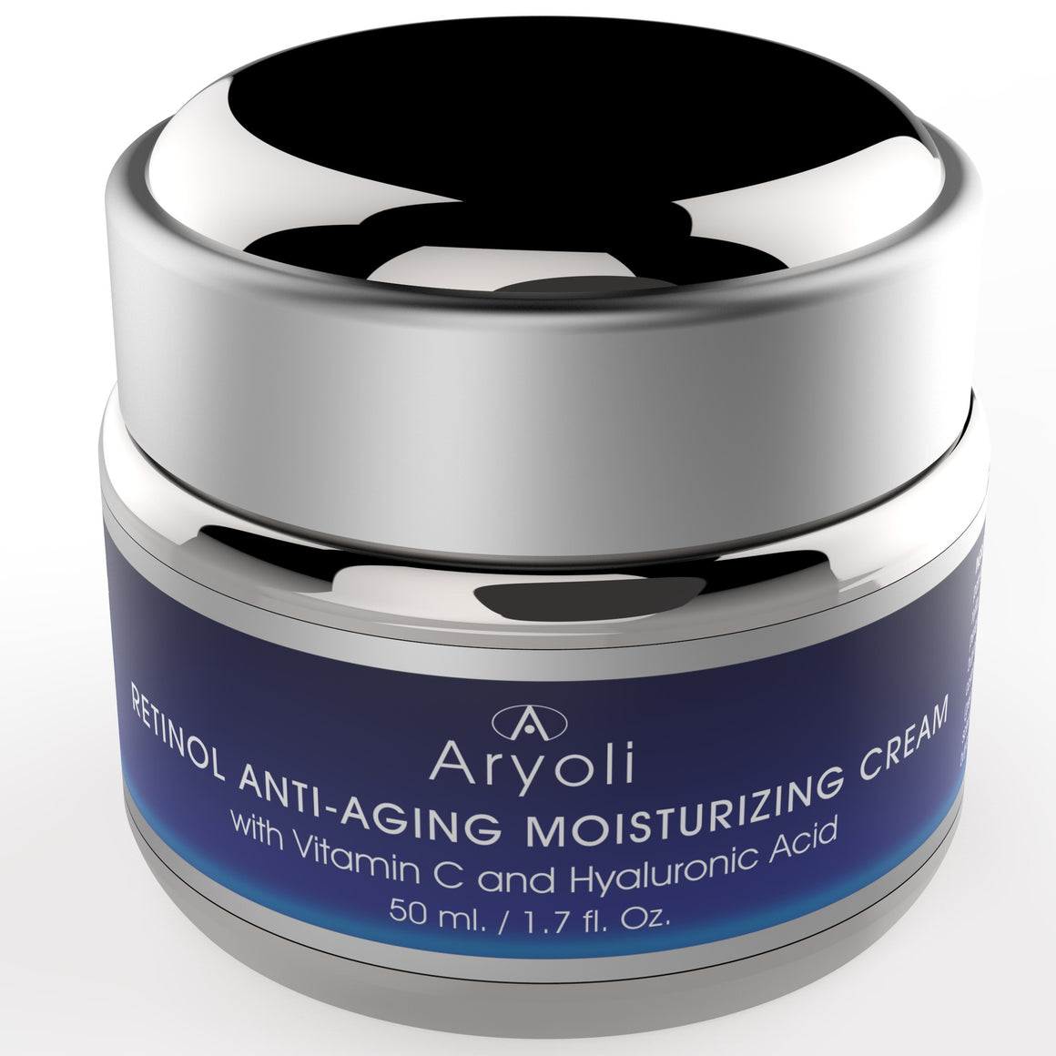 Retinol Anti-Aging Moisturizing Pro Cream by Aryoli Naturals 1.7 oz