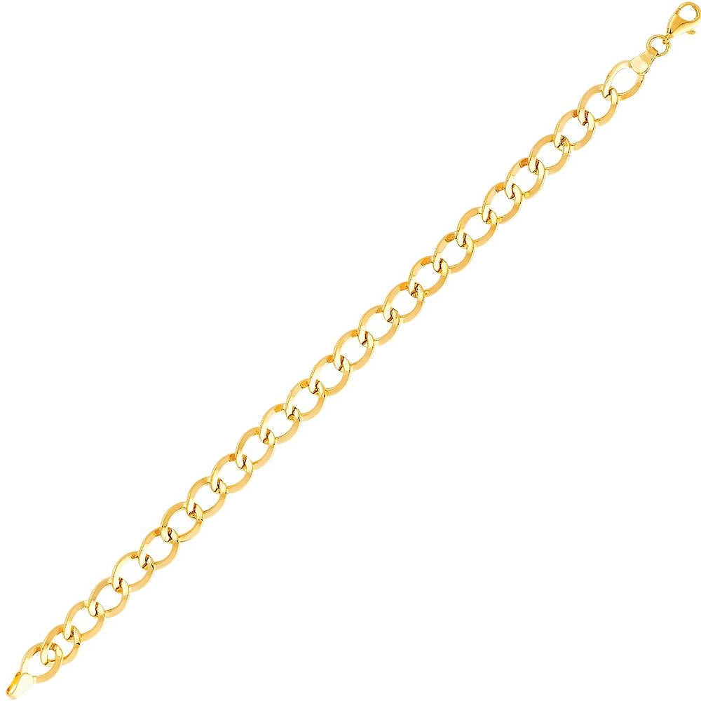 "Aryoli 14K Yellow Gold Light Fancy Bracelet, Lobster Clasp 7.5"" LEEAB12"