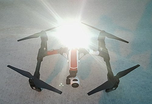 "Firehouse Technology ""Arc II White Four Strobe Light System Approved FAA 107.29 for Night Flights Drone Quadcopter UAS DJI Inspire 1 2 Phantom Mavic Pro AIR Typhoon H Yuneec Matrice"