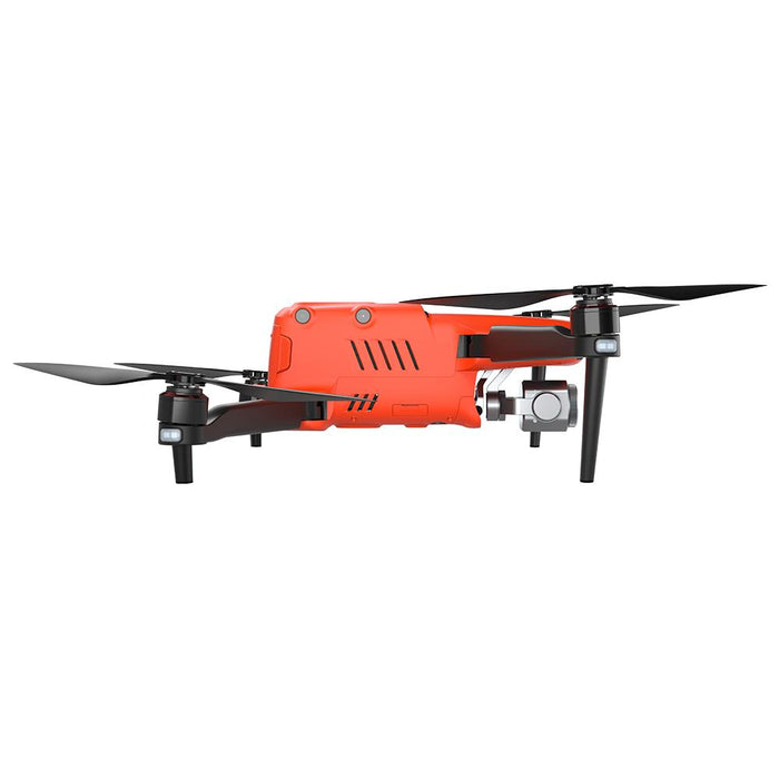 Sideview of Orange Autel Evo II Pro 6k drone