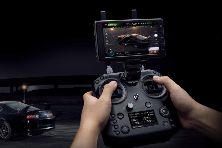 DJI Cendence Remote Controller in use