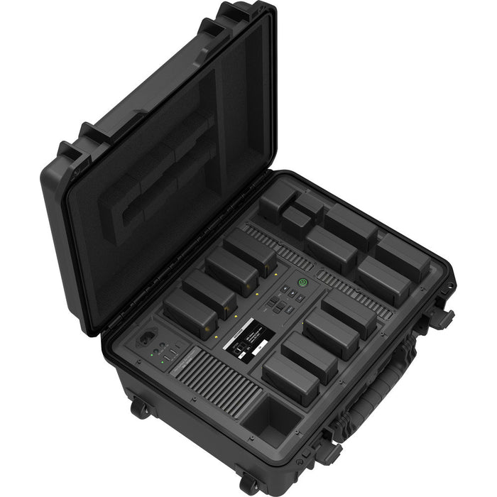 DJI Battery Station for the TB50 Intelligent Battery Open Overhead View