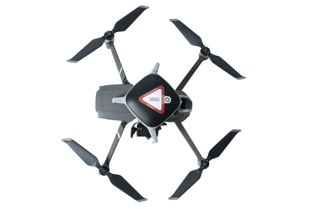 Overhead view of Mavic 2 Pro with ParaZero Parachute Mounted on top