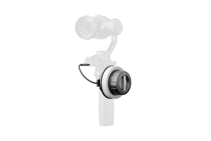The DJI Focus Handwheel simulated attachment