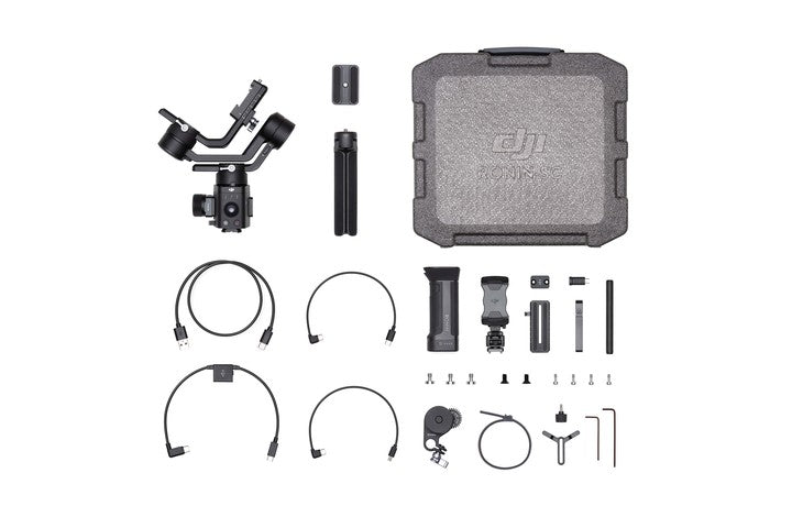DJI Ronin-SC Pro Combo with included focus wheel and accessories packaging