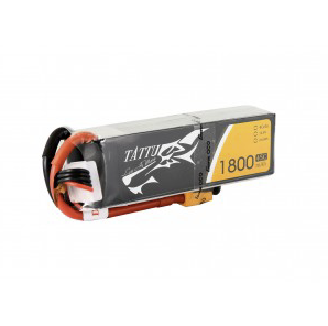 Tattu 1800mAh 45C 4S1P Lipo Battery Pack with XT60 plug