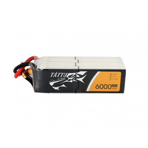Tattu 6000mAh 6S1P 35C 22.2V Lipo Battery Pack