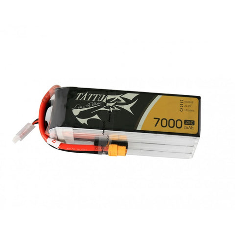 Tattu 7000mAh 6S1P 25C 22.2V Lipo Battery Pack