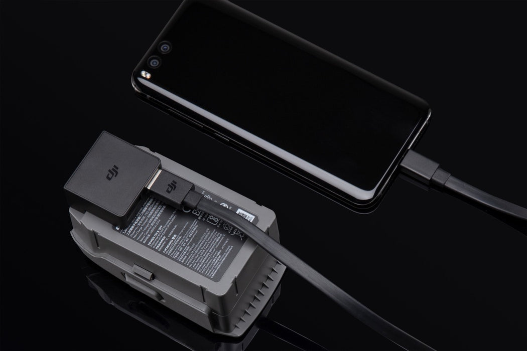 Power bank adapter in use, able to charge smartphone using only 20% of battery capacity