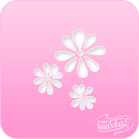 Daisies Pink Power Stencil