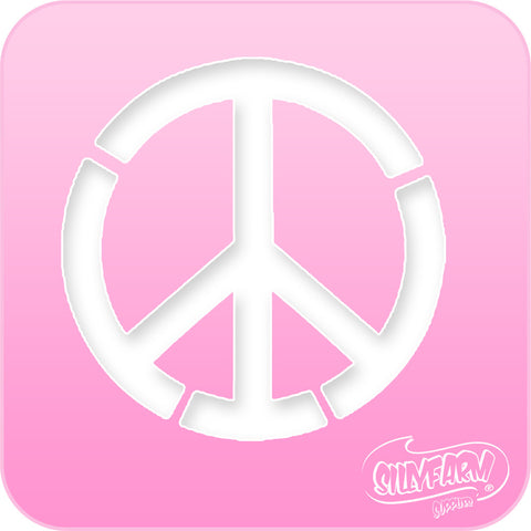 Peace Sign Pink Power Stencil