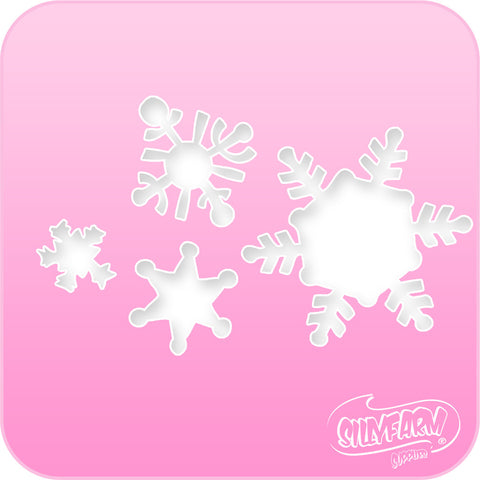 Snowflakes Pink Power Stencil