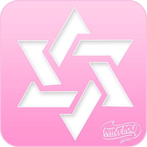 Star of David 2 Pink Power Stencil