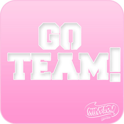 Go Team! Pink Power Stencil