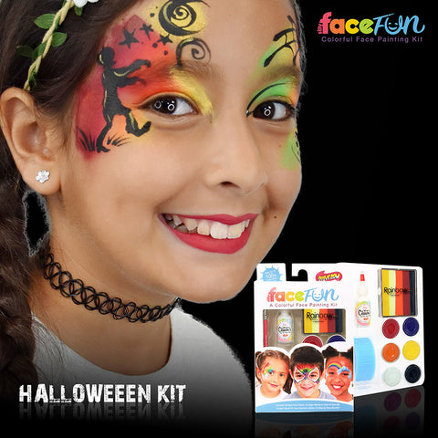 Classic Halloween Rainbow Party Silly Face Fun Kit