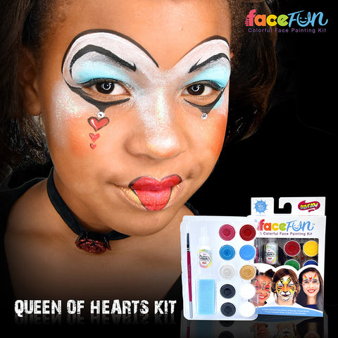 Queen of Hearts/ Alice in Wonderland Silly Face Fun Character Kit