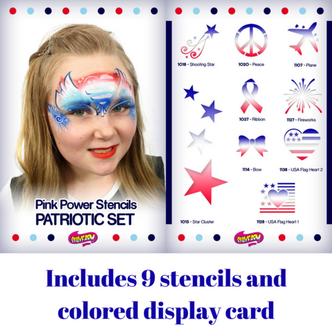 Patriotic Pink Power Stencil Set