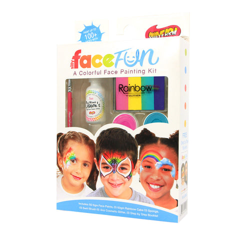 Carnival Rainbow Party Silly Face Fun Kit