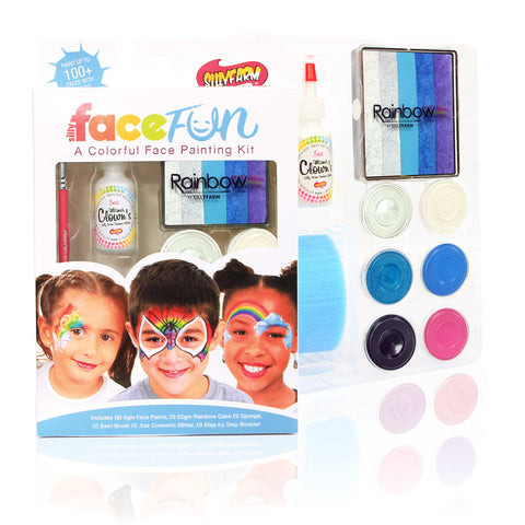 Frozen Rainbow Party Silly Face Fun Kit