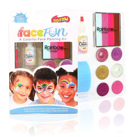 Valentine Rainbow Party Silly Face Fun Kit