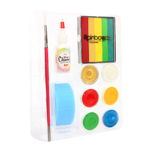 Holiday Rainbow Party Silly Face Fun Kit