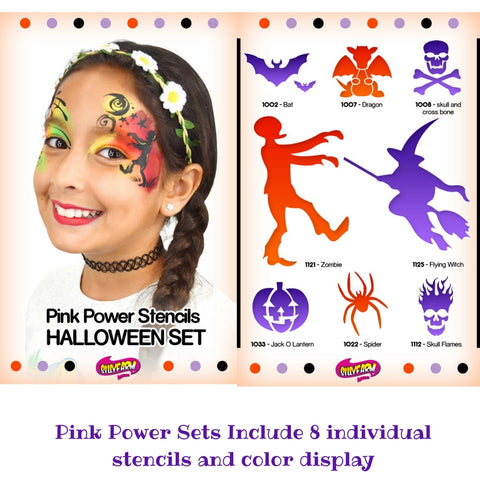 Halloween Pink Power Stencil Set