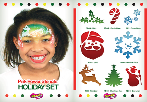 Holiday Pink Power Stencil Set