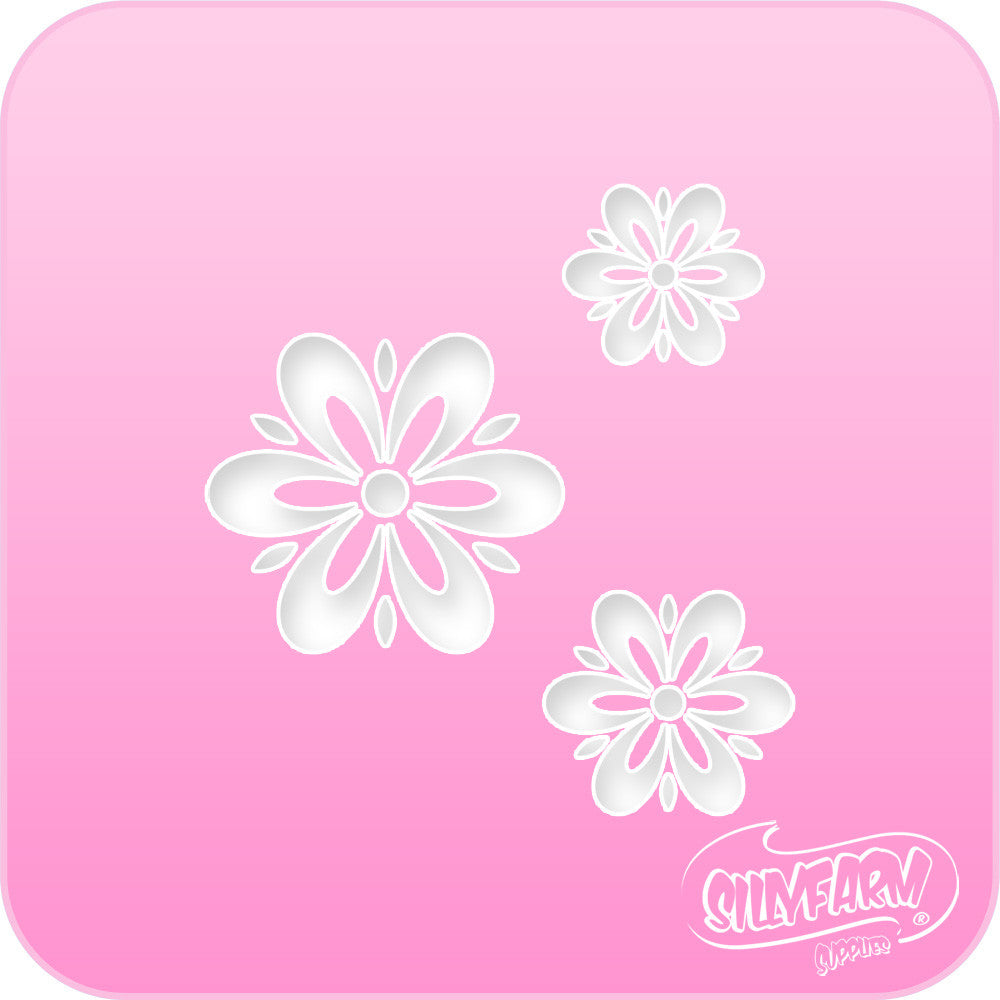 Fancy Daisies Pink Power Stencil Silly Facefun Kits