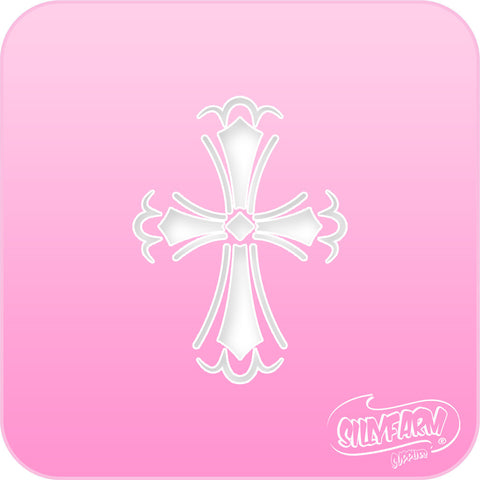 Cross Pink Power Stencil