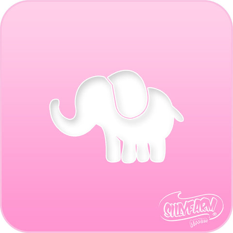 Elephant Pink Power Stencil