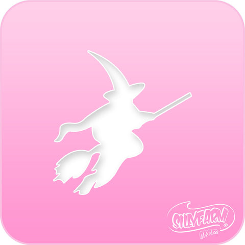 Flying Witch Pink Power Stencil
