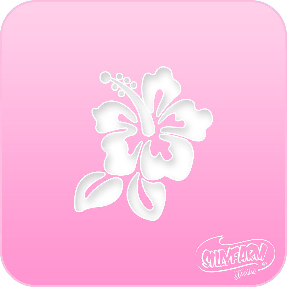 Hibiscus pink power stencil silly facefun kits hibiscus pink power stencil izmirmasajfo