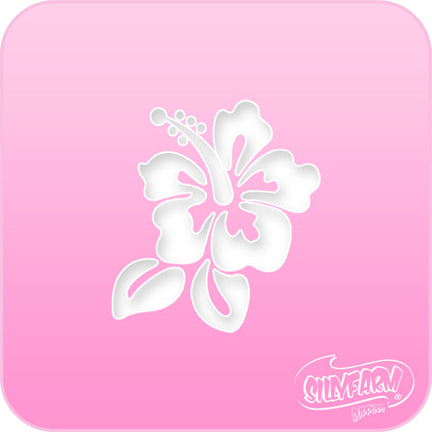 Hibiscus Pink Power Stencil