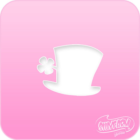 Lucky Top Hat Pink Power Stencil